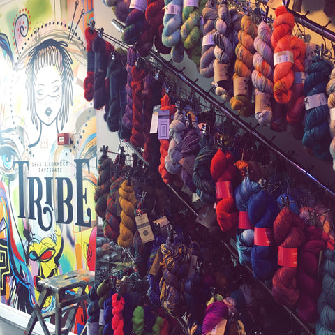 Inside Tribe Yarns, Sock Yarn Hangers