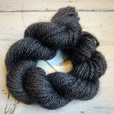 100% Qiviut (Musk Ox) - 2 Ply Pascuali Yarn Charcoal Q