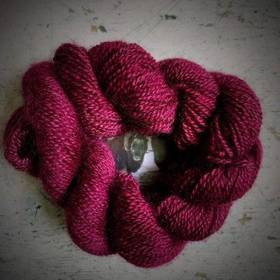 100% Qiviut (Musk Ox) - 2 Ply Pascuali Yarn Rose Q