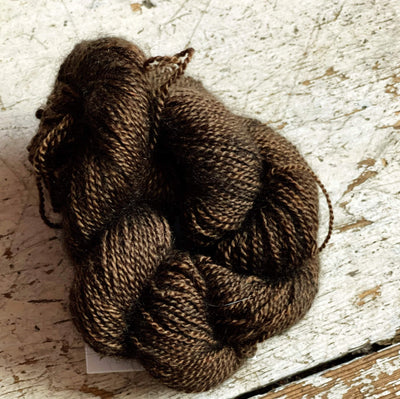 100% Qiviut (Musk Ox) - 2 Ply Pascuali Yarn Wood Rose Q