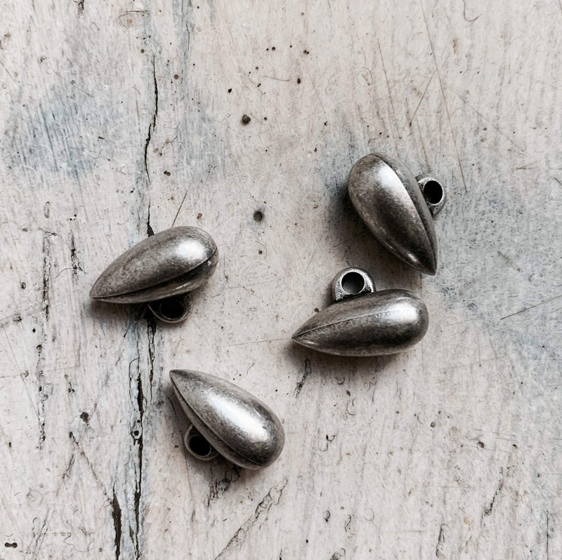 15mm - Zeppelin Shaped Bronze ABS TextileGarden Buttons & Fasteners