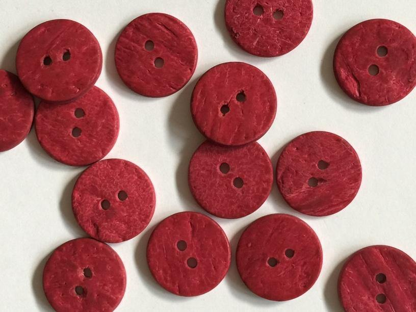 "Coconut Matt Deep Pink 18mm (¾"") Buttons"