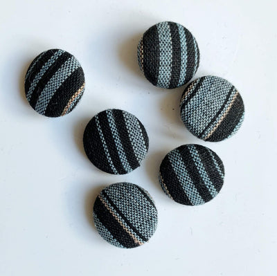 18mm Vintage Kimono Silk Buttons Yoko of Richmond Buttons & Fasteners Cotton Stripe