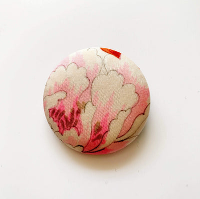 40mm Vintage Kimono Silk Brooches/Pins Yoko of Richmond Other Stuff Pink Blossom
