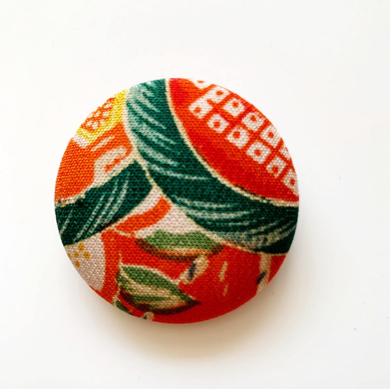 40mm Vintage Kimono Silk Brooches/Pins Yoko of Richmond Other Stuff Damson Green