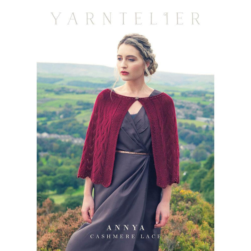 Annya Beaded Lace Cape Pattern Yarntelier Pattern