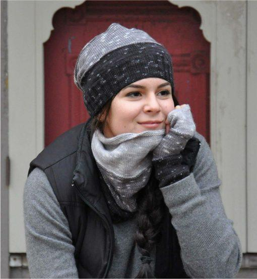 Aurora Hat, Mitts & Neckwarmer Pattern Swans Island Knitting Pattern