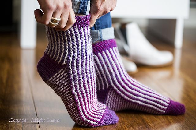 Baseline Socks Crochet Pattern tribeyarns Pattern