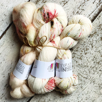 Bear Kit: Birds of A Feather Shawl Bear In Sheep's Clothing Yarn Orchard Kit