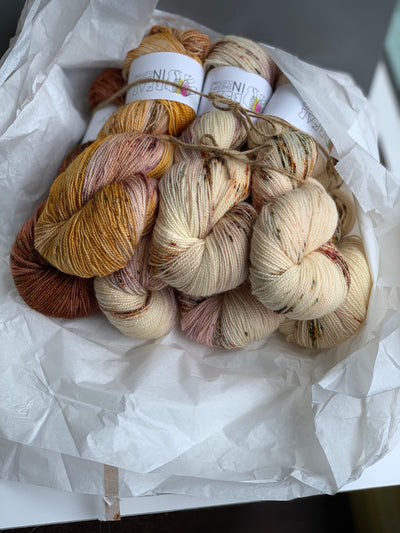 Bear Kit: Cognac Rose Cardigan Bear In Sheep's Clothing Yarn