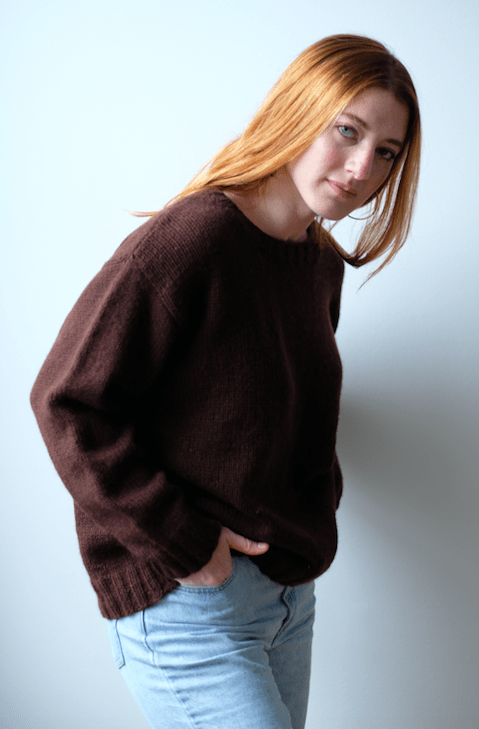 Bedford Basic Pullover Pattern by Clinton Hill Cashmere Clinton Hill Cashmere Pattern