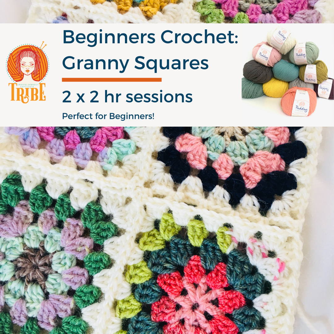 Beginners Crochet Course: Granny Squares, 8th & 15th Feb tribeyarns Event