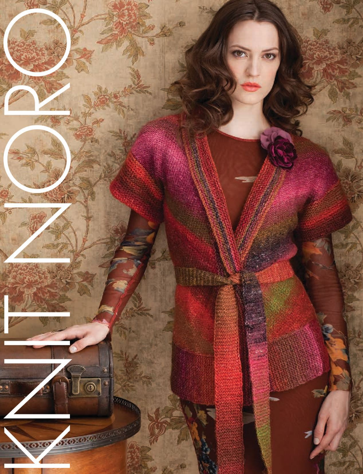 Belted Cardigan Vest Pattern by Noro Noro Pattern
