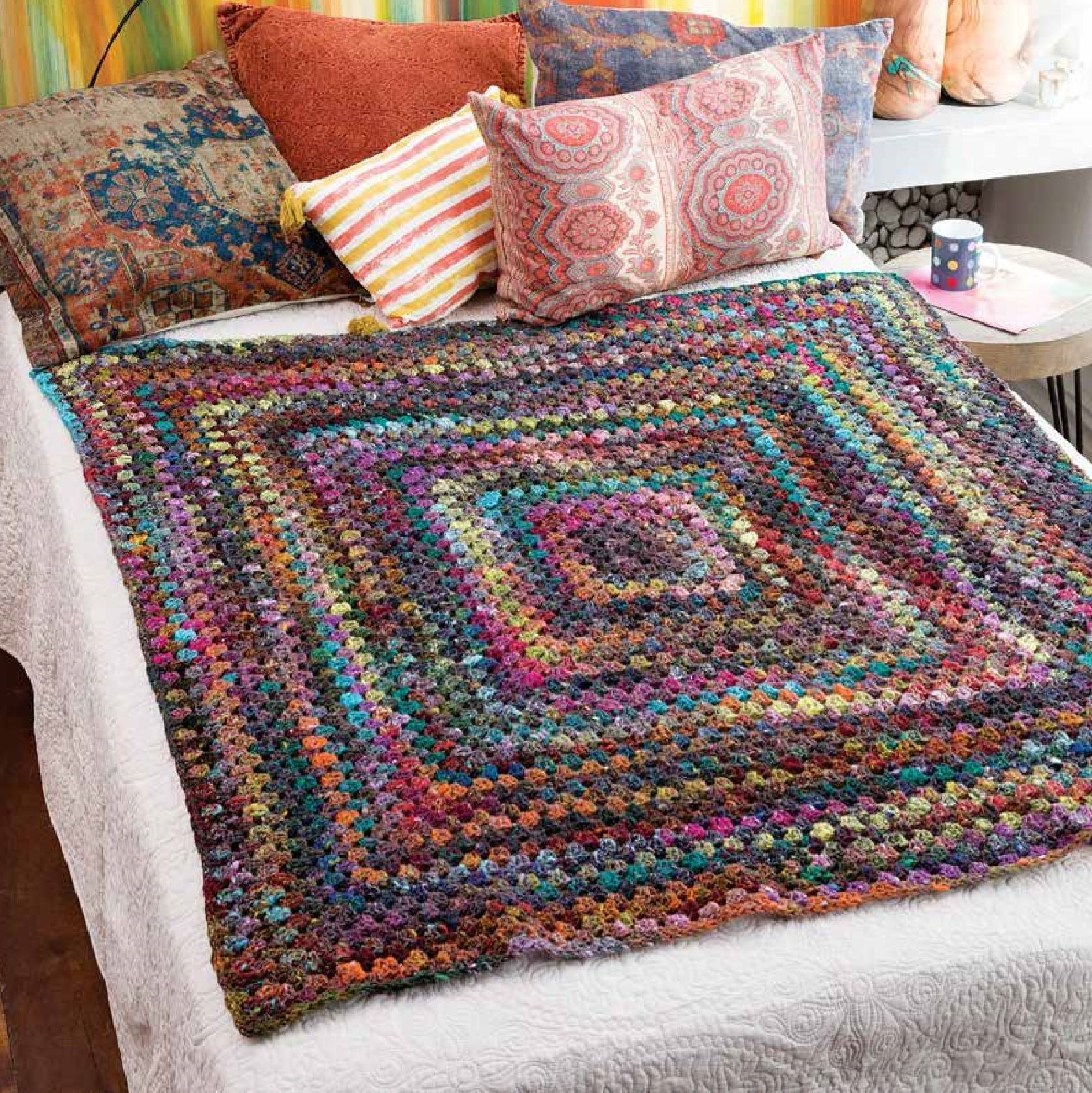 Big Granny Afghan Crochet Pattern by Noro | Shop Now ...