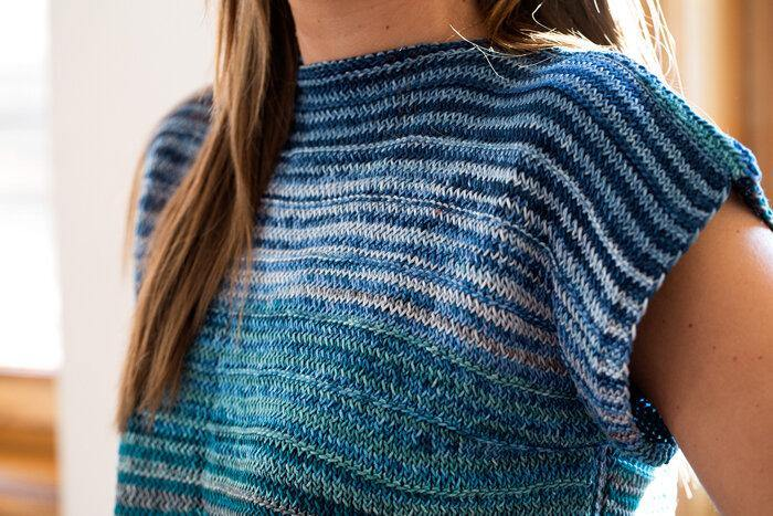 Boat Neck Cotton Tee Top Pattern Urth Yarns Pattern