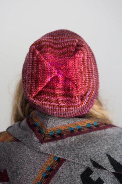Box Pleated Hat Pattern Urth Yarns Knitting Pattern