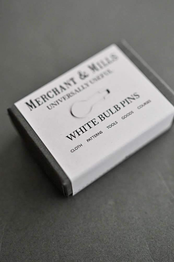 Bulb Pins - White Merchant & Mills Pins & Needles
