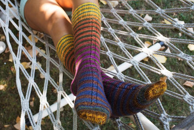 Cabled Insert Striped Sock Pattern Urth Yarns Pattern