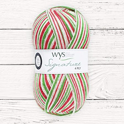 Candy Cane 4Ply Christmas Sock Yarn West Yorkshire Spinners Yarn