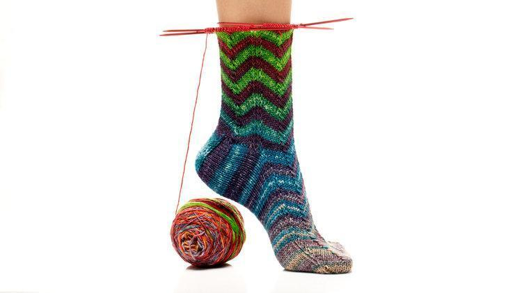 Chevron Striped Sock Pattern Urth Yarns Knitting Pattern