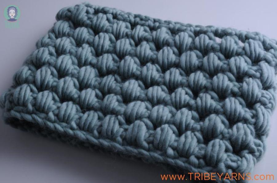 Chunky Puff Cowl CROCHET Pattern Mrs Moon Pattern