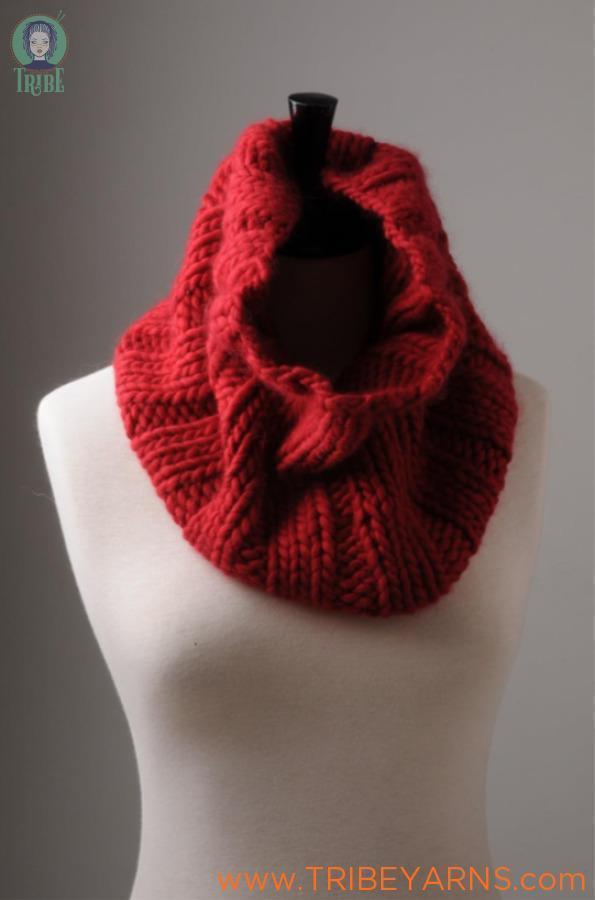 Chunky Rib Snood Pattern Mrs Moon Pattern