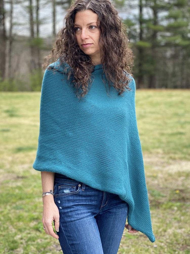 Classic Cashmere PonchoPattern by Clinton Hill Cashmere Clinton Hill Cashmere Pattern