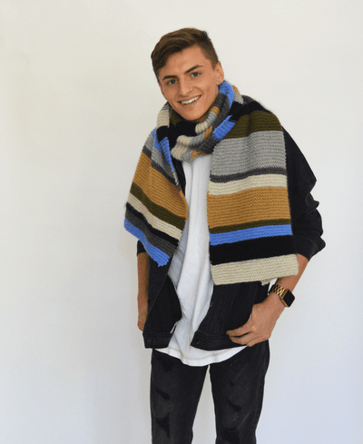 Colour Palette Scarf Pattern by Clinton Hill Cashmere Clinton Hill Cashmere Pattern