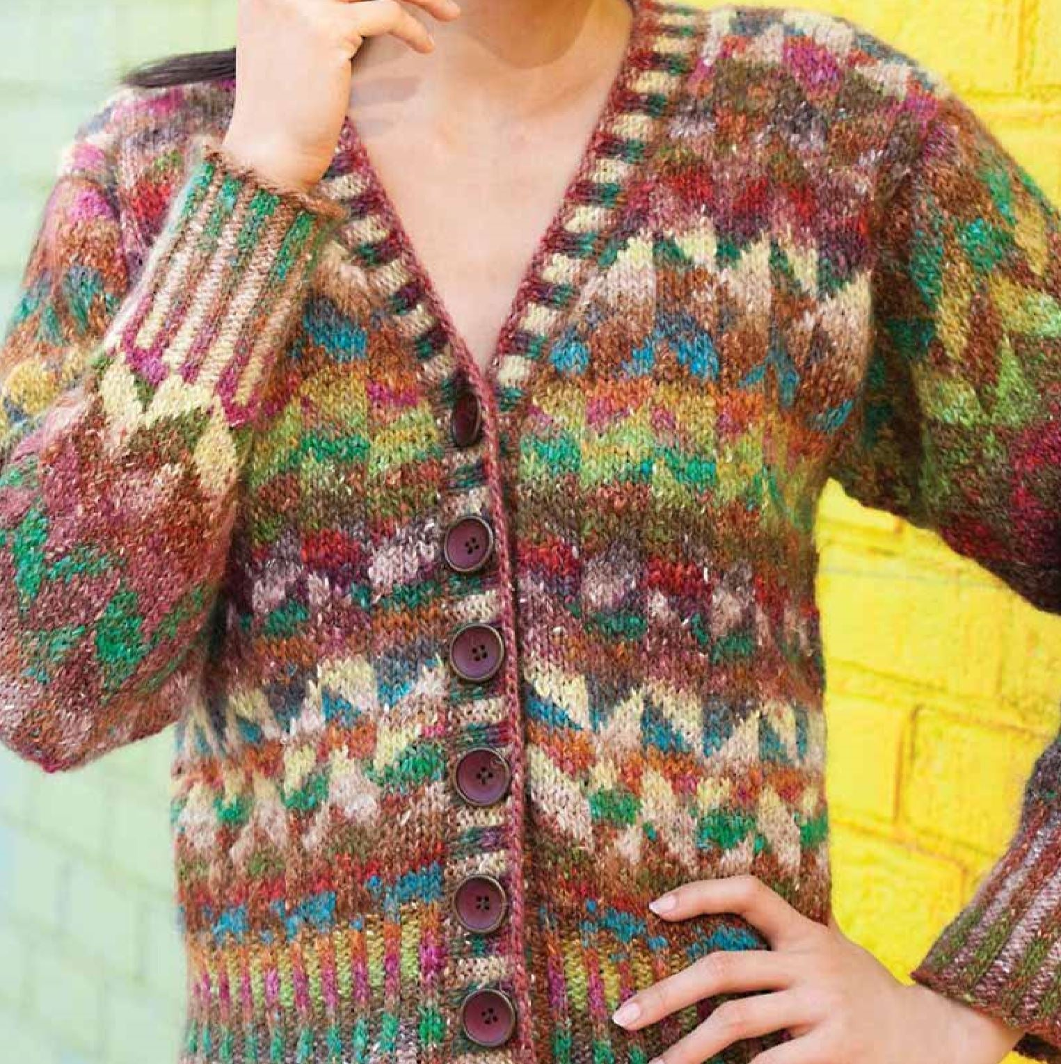 Colourwork Cardigan Pattern by Noro Noro Pattern