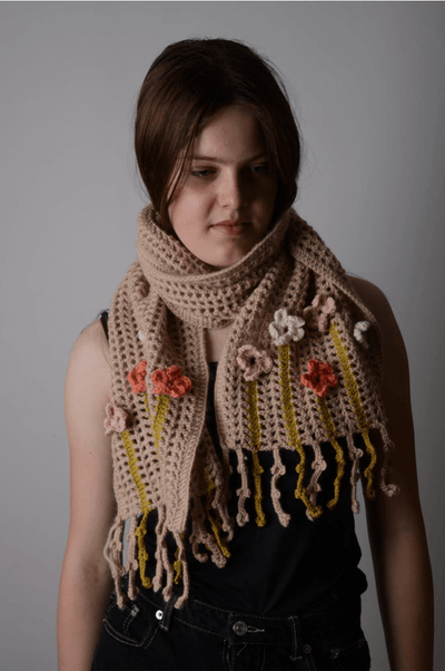 Coming Up Daisies Scarf CROCHET Pattern Mrs Moon Pattern