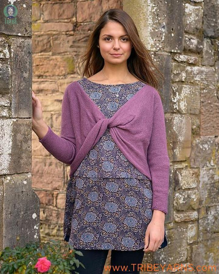 Cross-over Top Pattern The Fibre Co Knitting Pattern