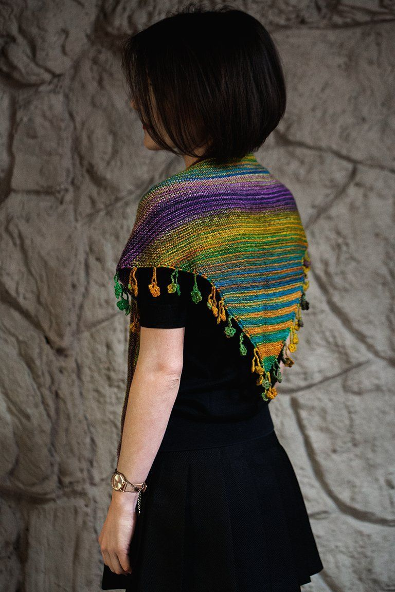 Desert Flower Shawlette Pattern Urth Yarns Knitting Pattern
