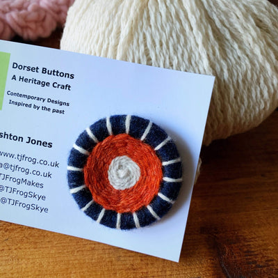 Di Gilpin Dorset Buttons TJFrog Buttons & Fasteners 45mm Three Colour - Crowdie