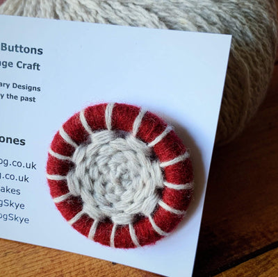 Di Gilpin Dorset Buttons TJFrog Buttons & Fasteners 45mm Two Colour - Agate