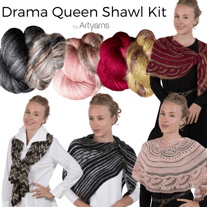 Drama Queen Shawl Kit Artyarns Kits & Combos