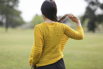 Elton Cardigan Pattern by Joji Locatelli tribeyarns Pattern