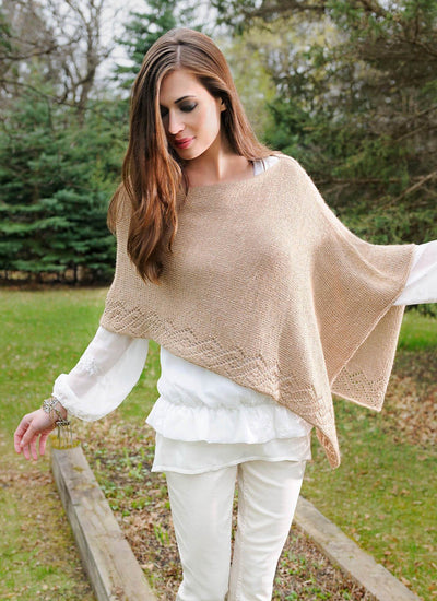 Etched Rio Wrap Pattern Blue Sky Fibers Knitting Pattern