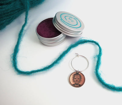 Exclusive Tribe Moveable Stitch Marker/Holder FizzCat Stitch Markers & Row Counters Copper