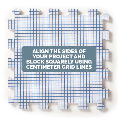 Extra Thick Blocking Boards With Centimetre Grids KnitIQ Blocking