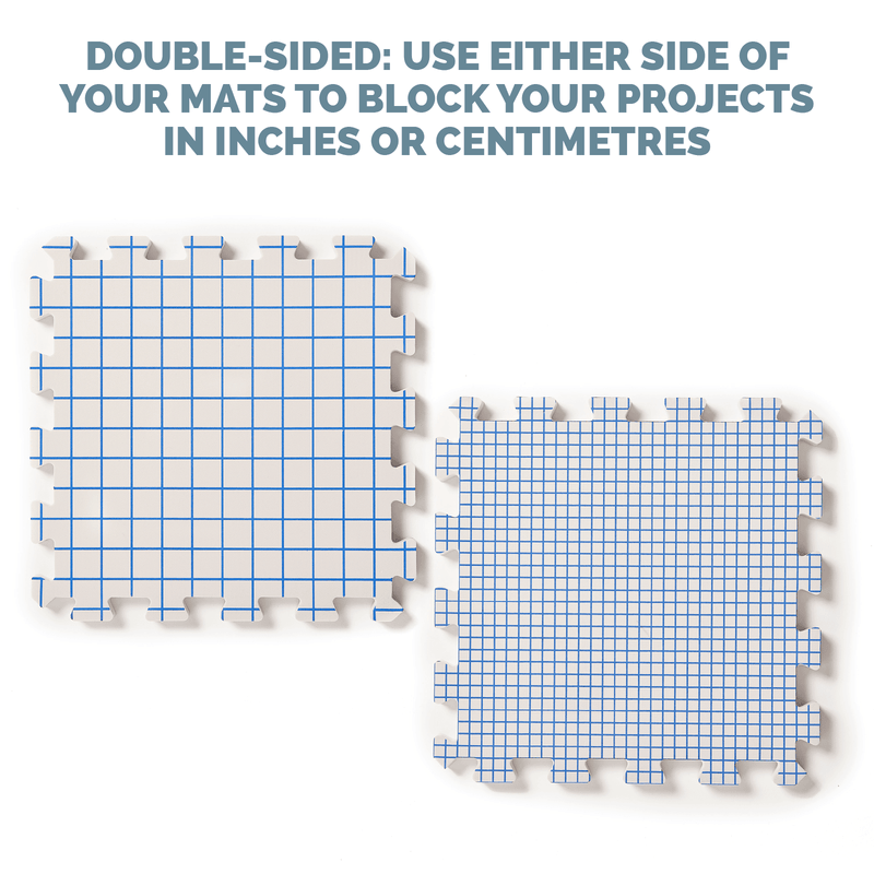 Extra Thick Double Sided Blocking Boards With Inch & cm Grids KnitIQ Blocking