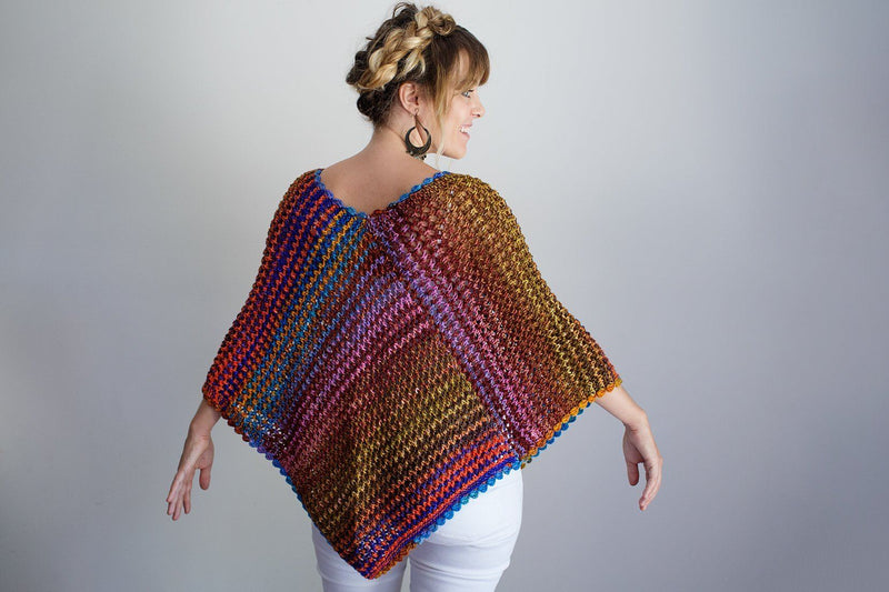 Eyelet Poncho Pattern Urth Yarns Knitting Pattern