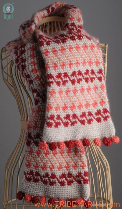 Fair Isle (Surprise) Scarf CROCHET Pattern Mrs Moon Pattern
