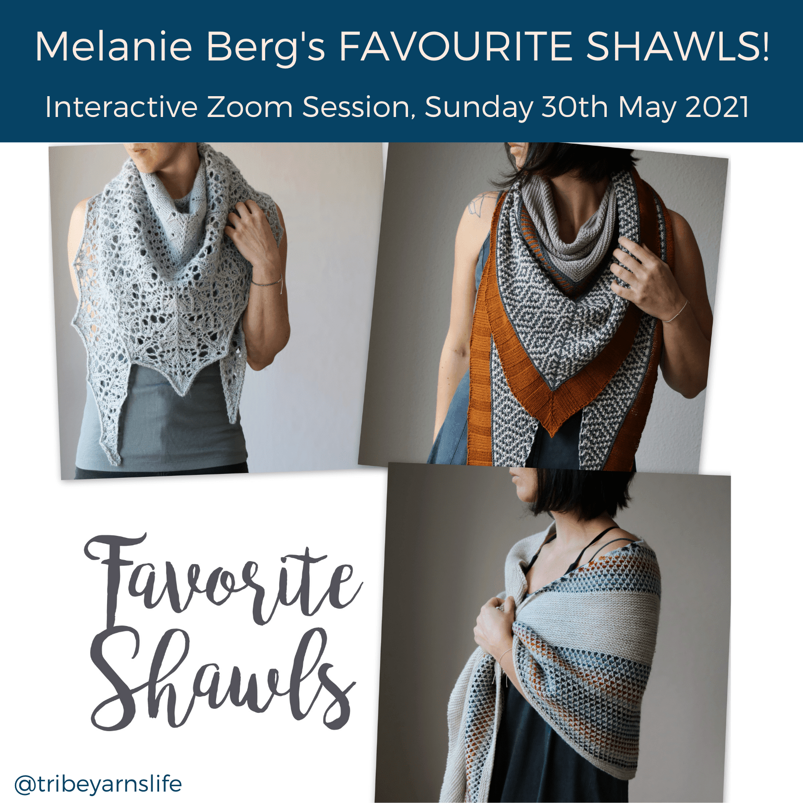 Favourite Shawls Talk with Melanie Berg @mairlynd tribeyarns Event