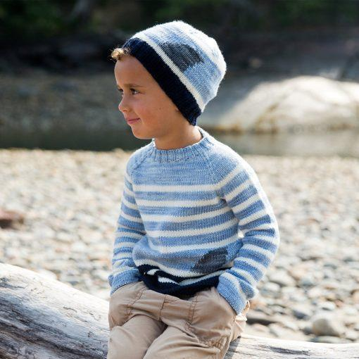 Fin Sweater & Hat Pattern Swans Island Knitting Pattern