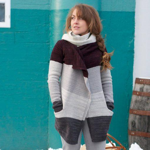 Fiona Coat Pattern Swans Island Knitting Pattern