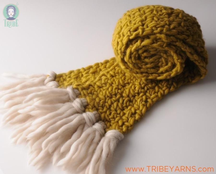 First Crochet Scarf CROCHET Pattern Mrs Moon Pattern