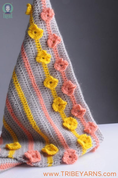 Flower Baby Blanket CROCHET Pattern Mrs Moon Pattern