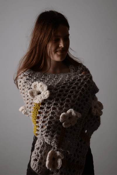 Flower Festival Shawl CROCHET Pattern Mrs Moon Pattern