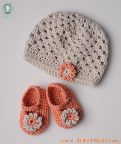 Flower Hat CROCHET Pattern Mrs Moon Pattern