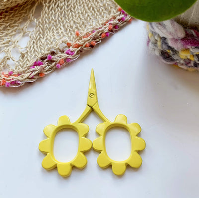 Flower Power Scissors Kelmscott Designs Scissors & Snips Yellow